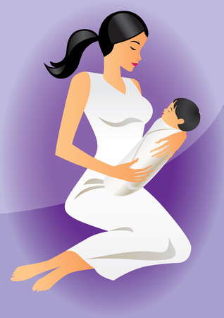 mother with child Stock Vector - 6709003