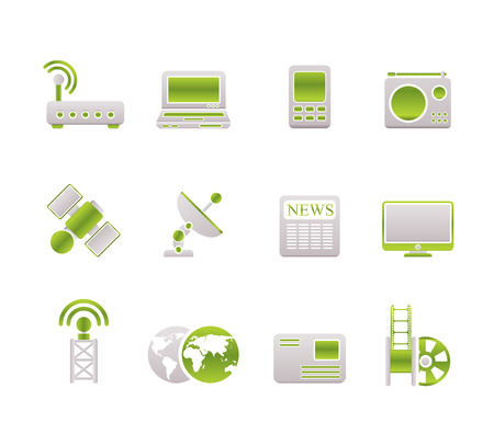 Business, technology  communications icons Vector