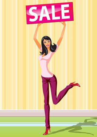 mujeres dinero: las ni�as con venta de Junta de compras de moda