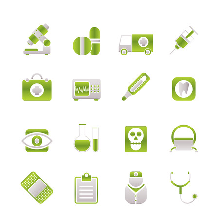 medical, hospital and health care icons Stock Vector - 6775180