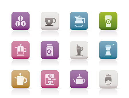 espreso: coffee industry signs and icons