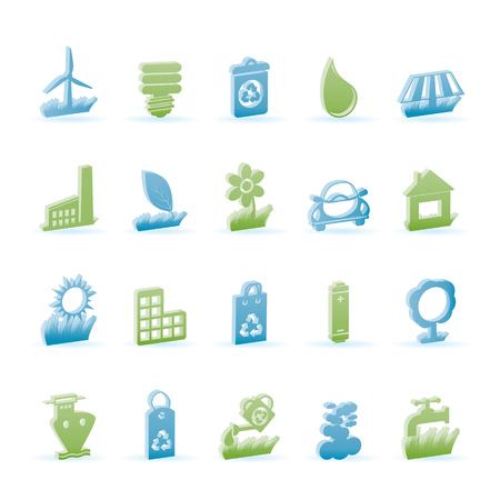 Ecology and nature icons - icon set Vector