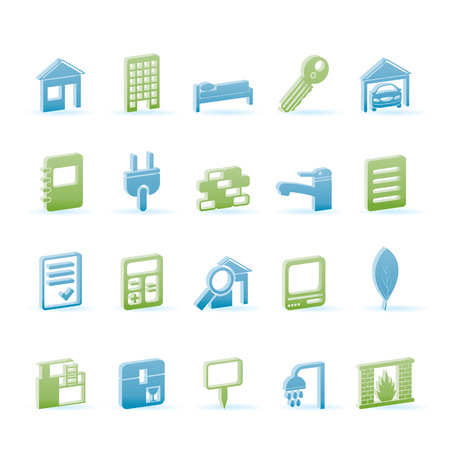 Real Estate and building icons - Icon Set Vector