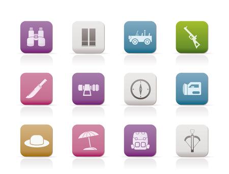 safari, hunting and holiday icons - icon set Stock Vector - 6910000