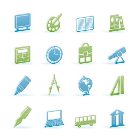 School and education icons - vector icon set Stock Vector - 6910047