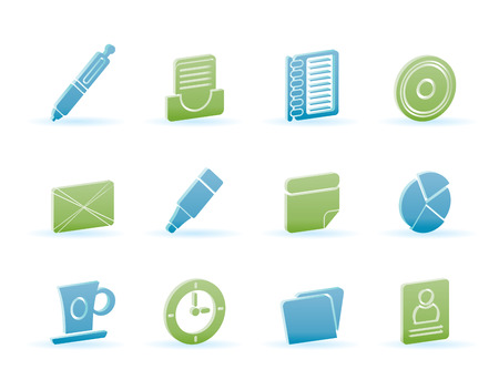 bugle: Office and Business Icons - icon Set Illustration