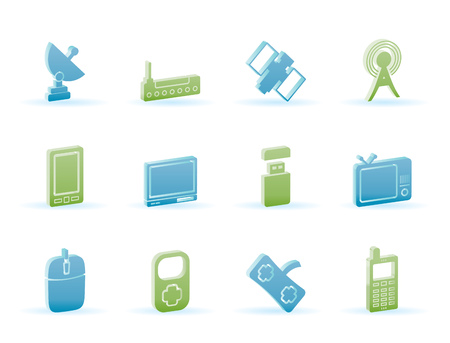 technology and Communications icons - icon set Stock Vector - 6910040