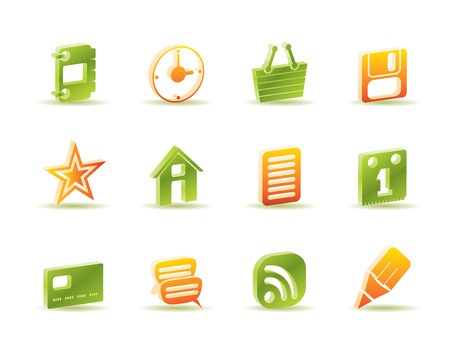 Internet and Website Icons - Icon Set Stock Vector - 6910002