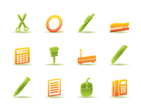Business and Office icons - icon set  Vector