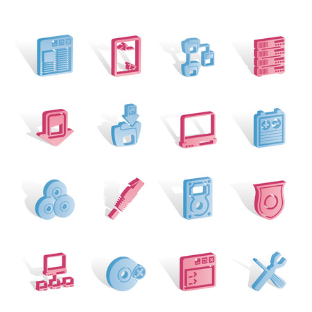 server side: Server Side Computer icons - Vector Icon Set