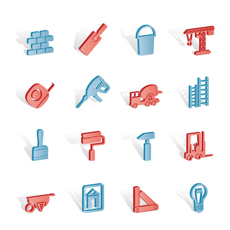 Construction and Building icons - Icon Set Stock Vector - 6910125