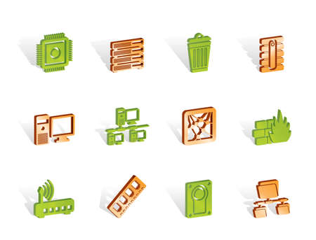 Computer and website icons - vector icon set Stock Vector - 6910120
