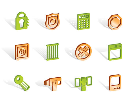 Security and Business icons - vector icon set Vector