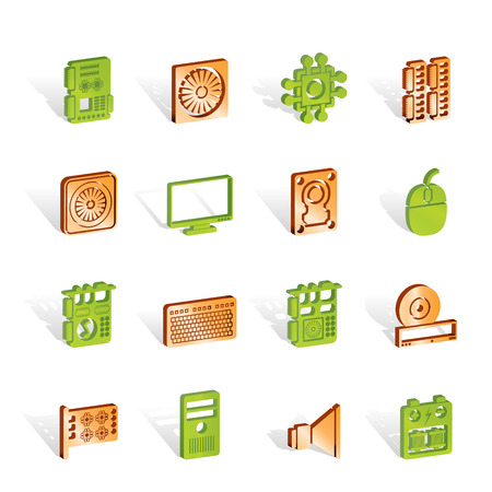 Computer  performance and equipment icons - icon set Stock Vector - 6910131