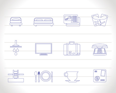 Hotel and motel icons  - icon Set Stock Vector - 6910095