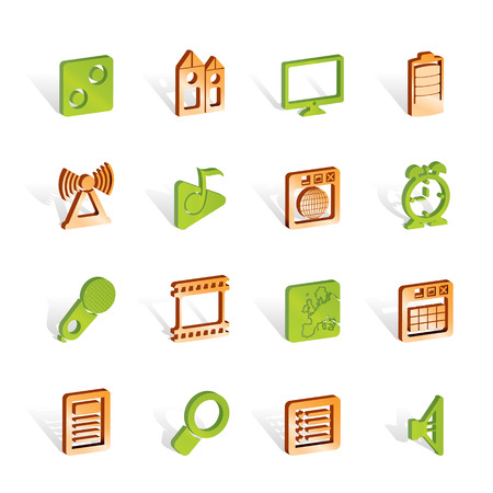 polyphony: Mobile phone  performance, internet and office icons - vector icon set