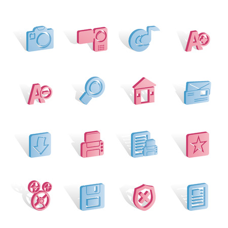 Internet and Website icons  Vector Icon Set Stock Vector - 6910174