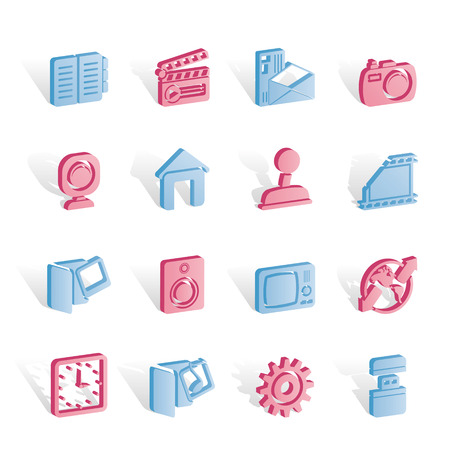 Internet, Computer and mobile phone icons - icon set Vector