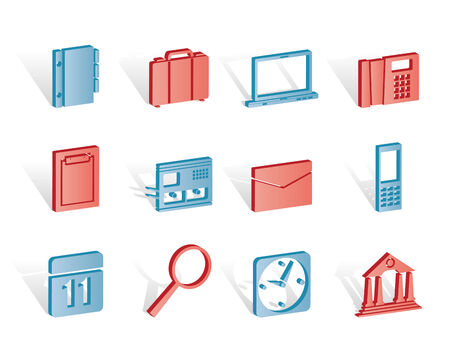 Business, Office and Mobile phone icons - Vector Icon Set Stock Vector - 6910132