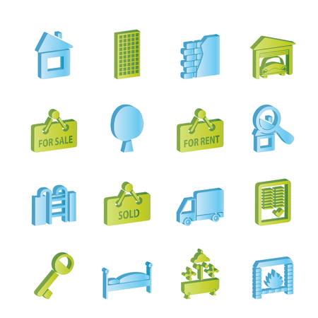 Real Estate icons - Icon Set Stock Vector - 6910176
