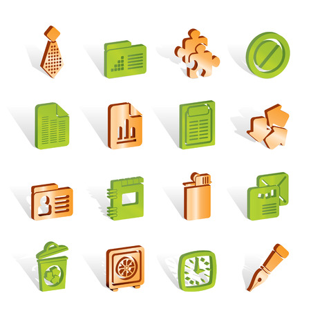 Business and Office Icons - vector icon set Stock Vector - 6910183