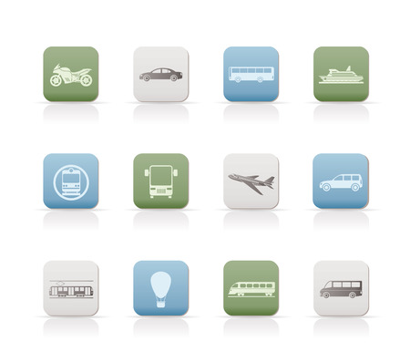 autobus: Travel and transportation of people icons