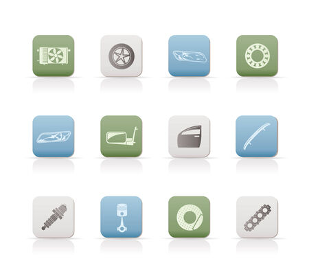 Realistic Car Parts and Services icons  Vector
