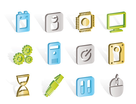 Computer and mobile phone elements icon Vector