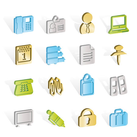 Business and Office icons Stock Vector - 7008820