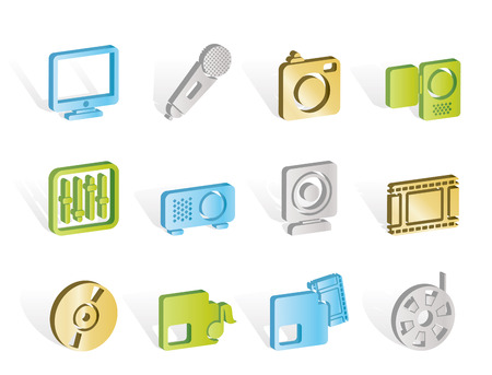 Media equipment icons Stock Vector - 7008810