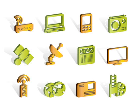 Business, technology  communications icons Stock Vector - 7008898