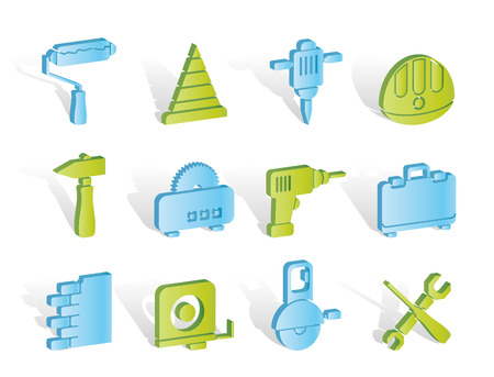 Building and Construction Tools icons Stock Vector - 7008859