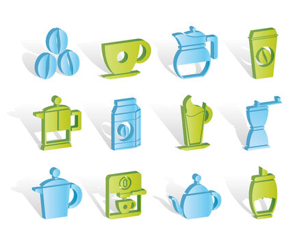 coffee industry signs and icons  Illustration