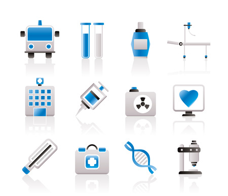 Medicine and healthcare icons - icon set Stock Vector - 7071406