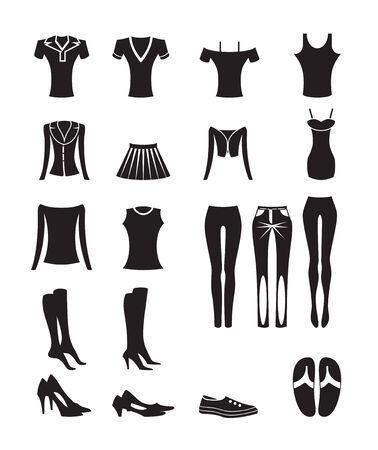 Frau und weibliche Kleidung-Ikonen