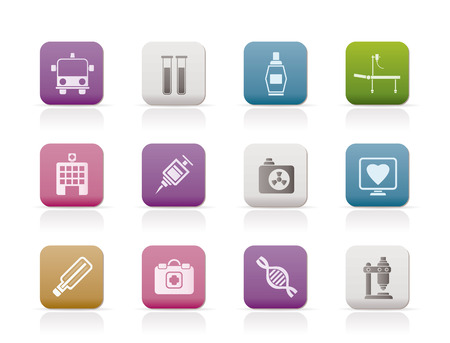 Medicine and healthcare icons Stock Vector - 7132402