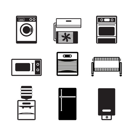 heater: Home electronics and equipment icons