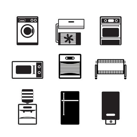 Home-elektronica en apparatuur pictogrammen