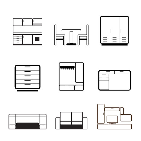 cupboards: Furniture and furnishing icons