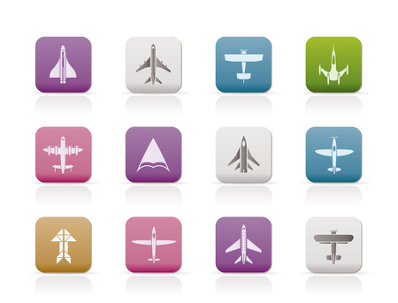passanger: different types of plane icons