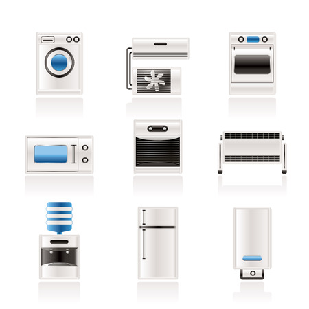 household goods: Home electronics and equipment icons