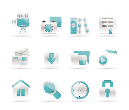 Computer and website icons. Stock Vector - 7210924