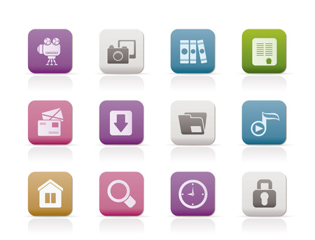 Computer and website icons. Stock Vector - 7210915