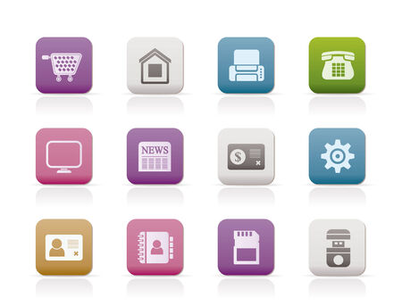 Business, office and website icons. Vector