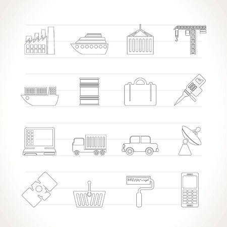 Industry and Business icons - vector icon set Vector