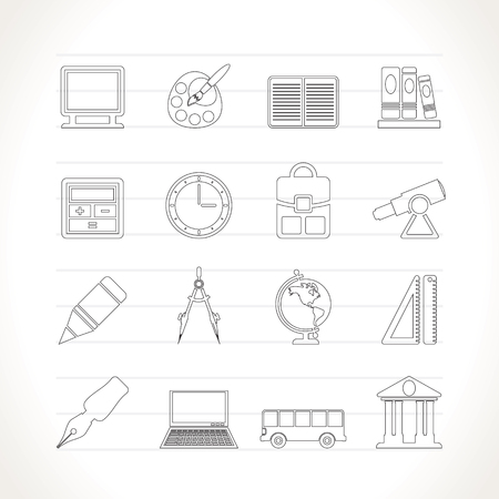 School and education icons - icon set Stock Vector - 7281323