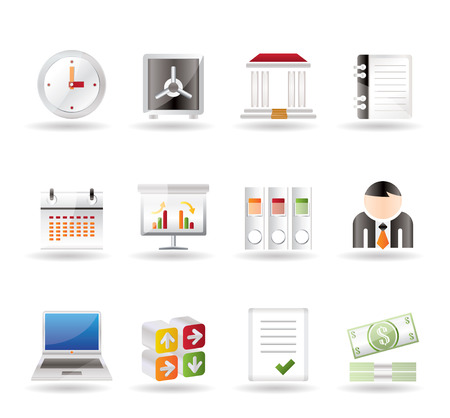 Business, finance and office icons - icon set Stock Vector - 7281340