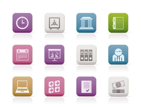 Business, finance and office icons - icon set Stock Vector - 7281281