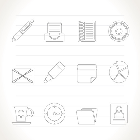 Office &amp, Business Icons - icon Set Stock Vector - 7281320