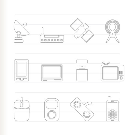 technology and communications icons - icon set Stock Vector - 7281321